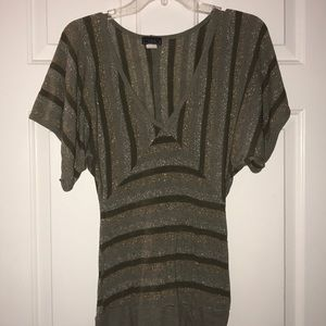 Tops - Women's Green and Gold Top Size M